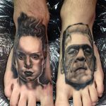 My frankie and bride tattoos by michaeldoeshorror