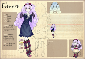 Reference Sheet: Elenore by LaauraF