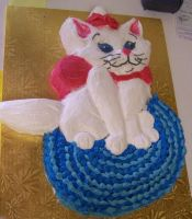 Kitty Cat Cake by perpetuousdreemr