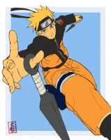 naruto in action by sharingandevil