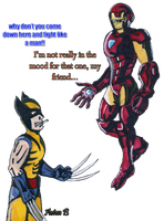 wolverine VS  Ironman by hatoola13