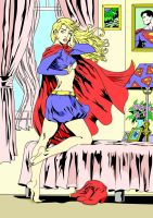 Supergirl dressing... 2 by MojoBrown