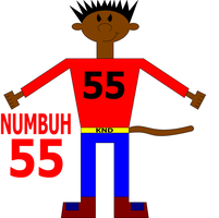 NUMBUH 55 With a Tail by Flame-dragon
