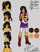 New Miss Black Character Ref by Beck-Carter