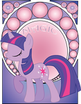 Twilight Sparkle Art Noveau by Jetti-G