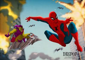 Spidey And The Goblin by DESPOP