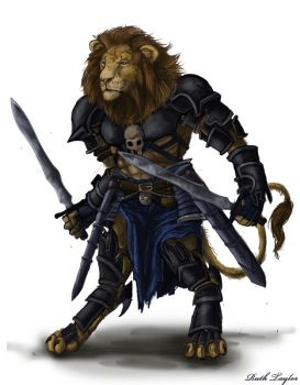 Lion Warrior by Ruth-Tay