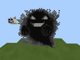 Pixel art-the ghost of lavender town by Goldietrap