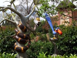 Kaa and Zazu in Disneyland by RussianRatigan