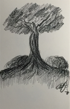 Tree Sketch by K1NGofK0NG
