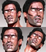 Evil Dead - Ash 3D Model WIP by FoxHound1984