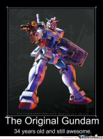 Mobile Suit Gundam Motivational Poster 8 by slyboyseth