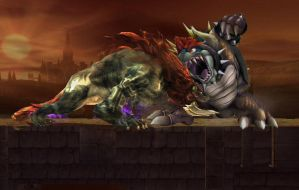 Beast Ganon vs Giga Bowser by Dark-Link117