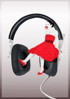 Apples, Music and Polka Dots by freak-illusions