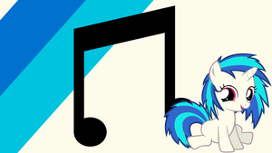 - Filly Vinyl Scratch Wallpaper - by Ponyphile