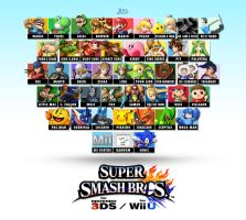 SSB WiiU/3DS Roster Wish-list (update 2) by Blue-Paint-Sea