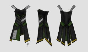 Loki's Dress Concept by Distorted-Eye