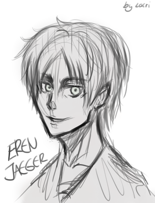 Eren Jaeger [Rough Sketch] by LacriChan