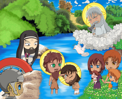 Baptism of Christ Chibi 4 by Rayenart
