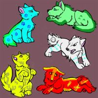 Wolf Cub Adoptables by liongirl2289
