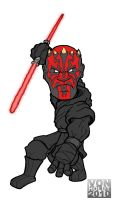 Darth Maul color by vonholdt