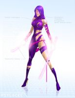 Psylocke - OG Marvel remix DB by ogi-g