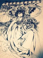 WIP - Chang'e - Chinese goddess of the Moon by dlee081297