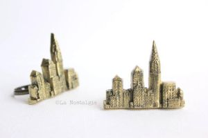 New York Skyline Ring Jewelry by LaNostalgie05
