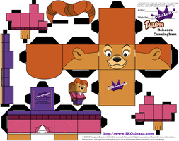 Rebecca Cunningham from TaleSpin Cubeecraft by SKGaleana