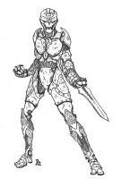 Dark the Shadetype Warforged by drizzt814