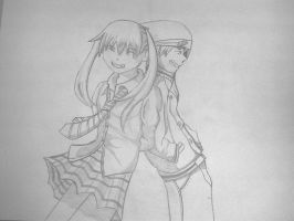 Maka and Soul by FrankTheDoodler