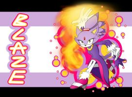 Blaze the Cat Wallpaper by AR-ameth