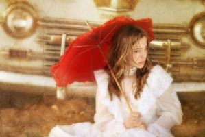 .red umbrella. by TakeMyWorldApart