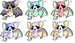 Bat adoptables (4/6) by Scooterloo9000