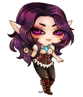 Sintra - Chibi commission by clover-teapot