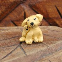 Itchy Dog Sculpture by LeiliaClay