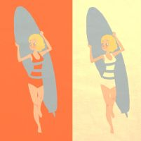 Surfer Chick by NickSwift