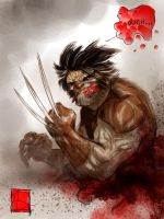 Wolverine and his intestines. by ARTofANT