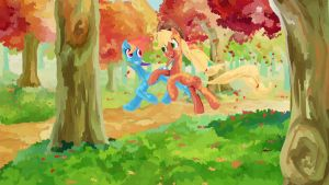 Runing of the Leaves by My-Magic-Dream