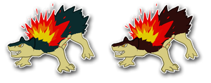 Typhlosion Sticker Thing' by Dogthatkills
