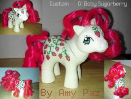 My Little Pony Custom Baby Sugarberry G1 by Amyatpebble