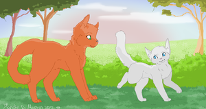 Fireheart and Cloudpaw: Just another day by MorningDesiree