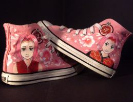 Sakura Haruno - Shoes by i-scene-death