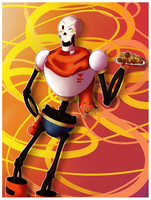 The Greater Papyrus And Your Delicious Spaghetti by Lady-Kitsu