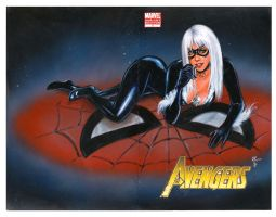 Black Cat Spiderman cover by Melanarus