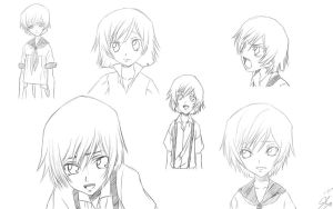 The many faces of Lelouch by seki-kun