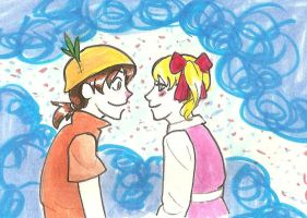 Anime Peter and Wendy by hopelessromantic721