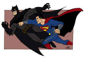 Batman vs Superman by madedd