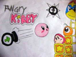 Angry Kirby by Rotommowtom