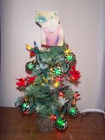 1D Christmas Tree: Decorated and Lit by iluvlouis